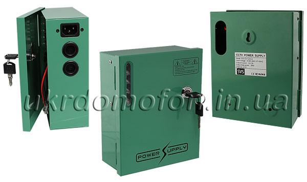 Фото: Зеленый блок бесперебойного питания SVS-DC12A3-4 вид со всех сторон