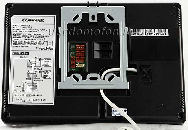 фото цветной домофон Commax CDV-71AM вид сзади