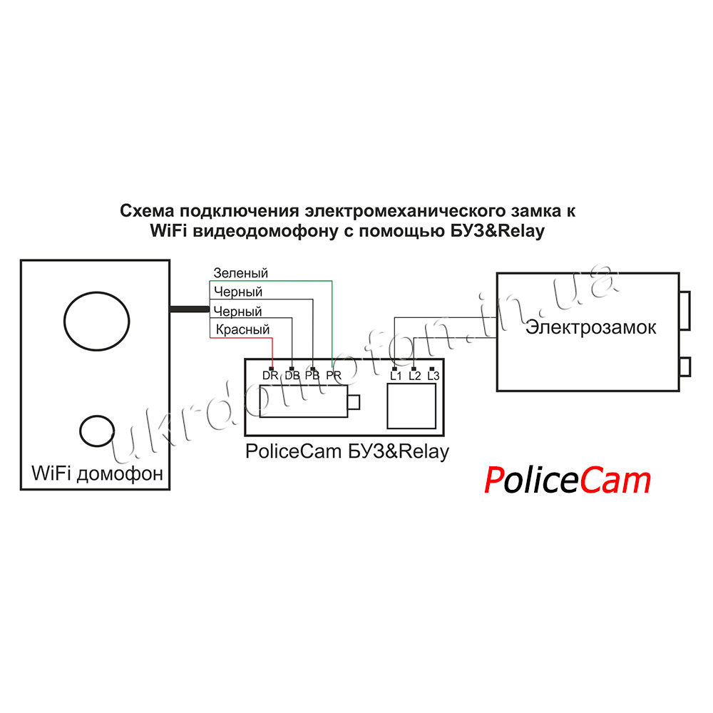 схема подключения к видеодомофону камер