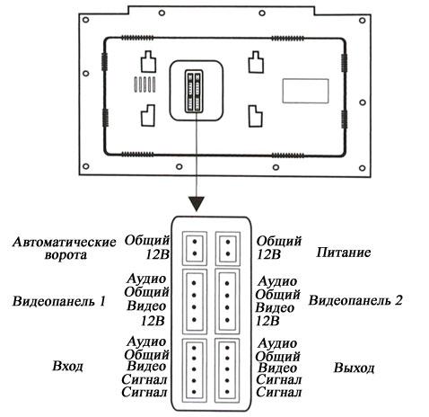 Схема подключения к домофону 2