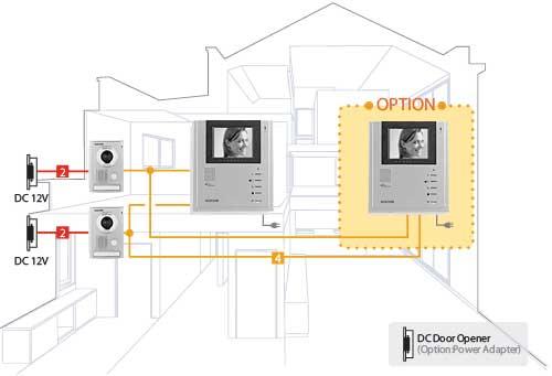схема подключения домофона Kocom KIV-101EV