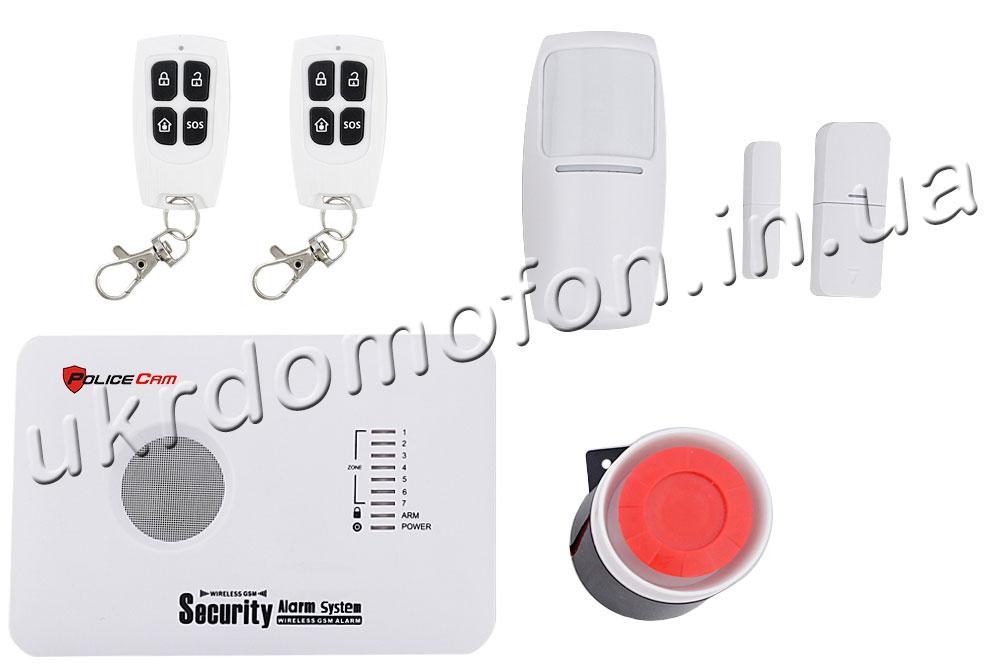 Фотот: комплект поставки сигнализации GSM 10C Prof