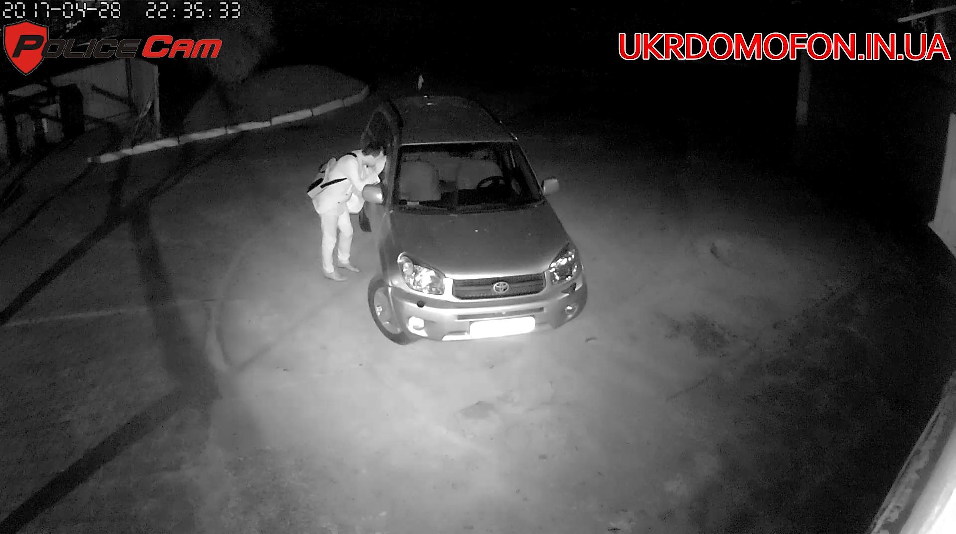 Фото с уличной камеры видеонаблюдения PoliceCam PC-490WIFI IP1080 ночью